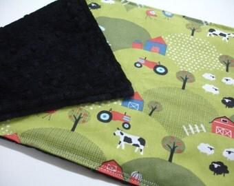 Free Range Farm Baby Burp Cloth 11 x 21 READY TO SHIP