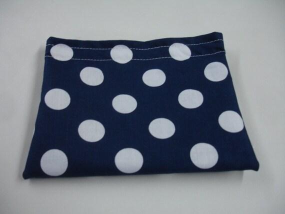 Navy Dots Reusable Snack Bag