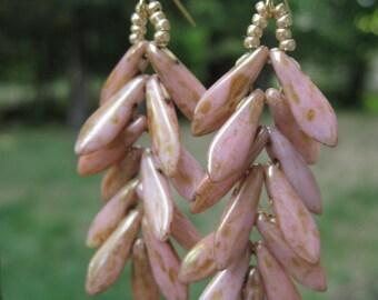 Rose Gold Fern Chandelier Earrings