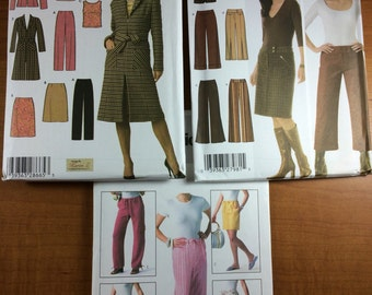 Simplicity 4791 4965 Butterick 4194 Lot of 3 Sewing Patterns Sizes 4-6-8-10 Design Your Own Shorts Capris Pants Tops Jacket
