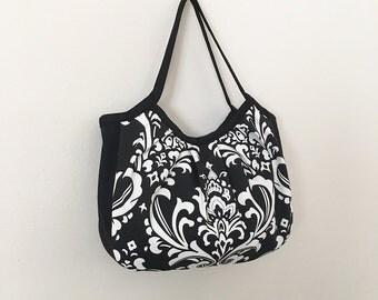 Granny Bag with Gusset // Shoulder Purse -  Ozborme Black