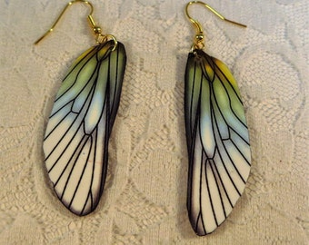 Cicada Wings Earrings Lightweight Blue