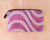 GRAPE SWIRL Silk Brocade Coin Purse
