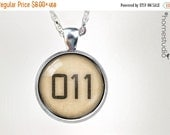 ON SALE Limited Edition (Eleven Tattoo) : Glass Dome Necklace, Pendant or Keychain Key Ring. Gift Present metal round art photo jewelry Home