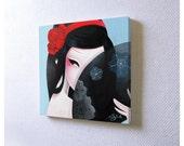 Mini acrylic painting: Hide