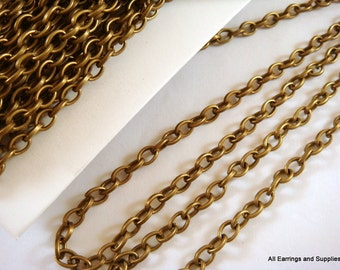 25ft Antique Bronze Rolo Chain Plated Iron 5mm LF/NF Not Soldered - 25 feet - STR9053CH-AB25