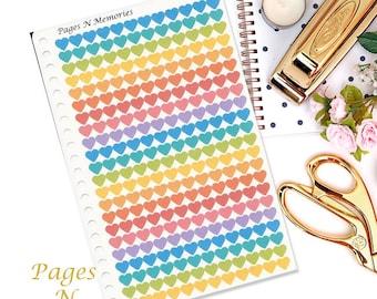 Rainbow Heart Planner Stickers/ Planner Stickers/ Heart Stickers/ Erin Condren/ Plum Paper/ Inkwell Press/ Happy Planner   #054