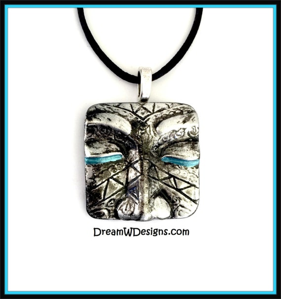 Tribal Face Necklace / Tribal Face Pendant /Face Necklace / Face Pendant / Boho Necklace / Boho Pendant / Eyes Pendant / Eyes Necklace