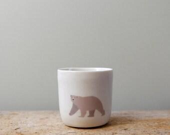 White Porcelain Polar Bear Tea Light Pot