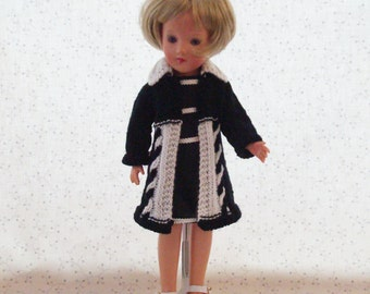 NEW Cabled Knit coat and dress for 14 inch dolls