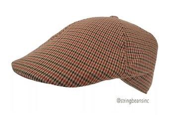 Newsboy or Gal Hat Plaid