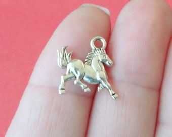 10 Horse Charms (Double sided) 14x16x2mm Hole: Approx. 1.8mm