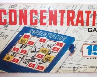 Vintage Concentration Board Game 1970