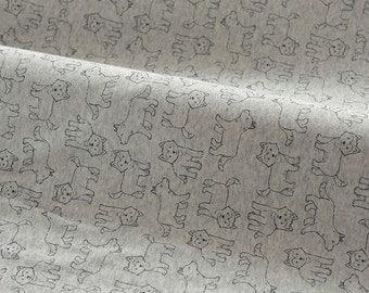 4151 - Husky Dog Cotton Jersey Knit Fabric - 73 Inch (Width) x 1/2 Yard (Length)