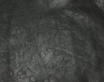 BLACK SPECKLE Cow Hide Leather Piece #4