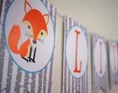 Woodland Baby Shower Banner - Little Fox Banner - Woodland Little Fox Baby Shower - Woodland Little Fox Pennant Banner