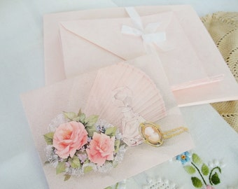 vintage stationery pink paper and envelopes whiting writing paper