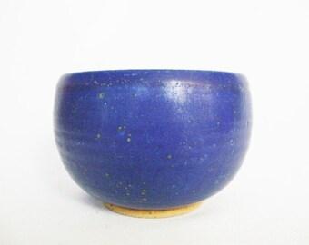 vintage stoneware blue studio pottery cobalt bowl