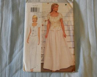 Butterick Wedding Dress Pattern N 5003 Uncut, Size 18 thru 22