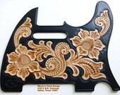 Tele Handtooled Custom Leather Pickguard