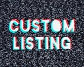Custom Order for Daniella - 3 custom keychains