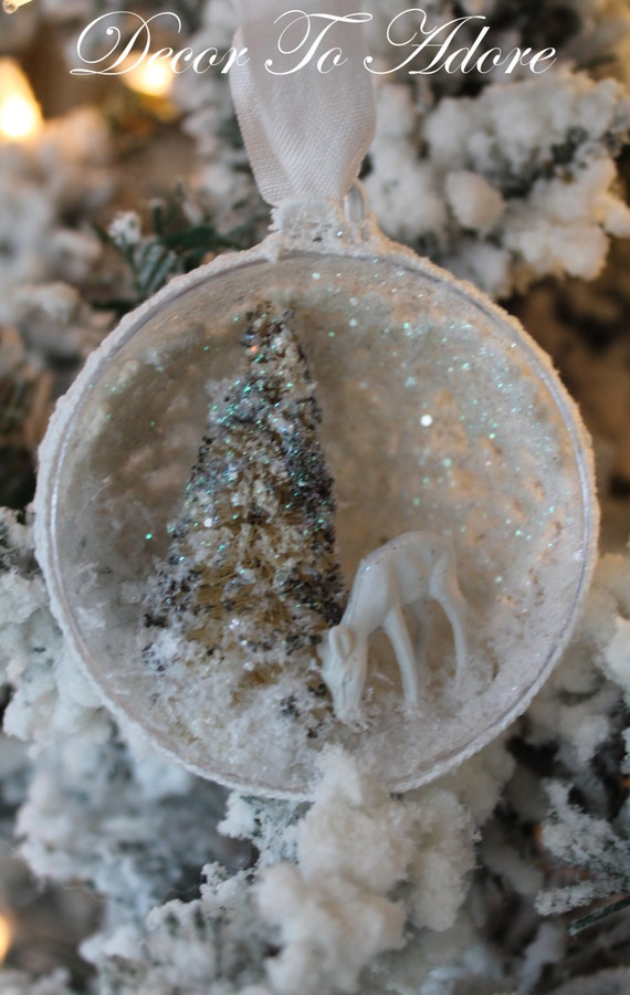 Wee Glitter Deer Ornament