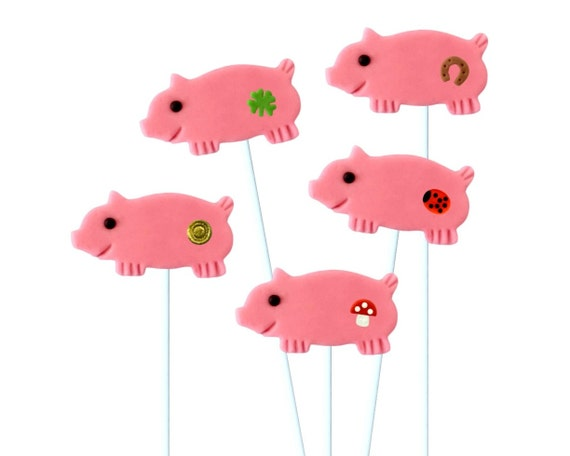 Gluckschwein! Good Luck Marzipan Pig Marzipop Lollipops!