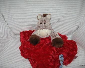 Security Blanket, baby blanket, luvi, lovie - pony lovems