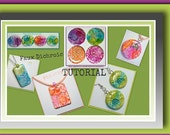 Tutorial- Polymer clay Tutorials- Faux Dichroic Pendants- Ink and Foil Tutorial- Beginner Tutorial