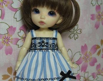 Blue Striped Dress for Lati Yellow, Pukifee
