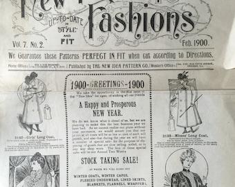 Vintage 1900 Turn of the Century New Ideas Pattern Brochure Edwardian Victorian Fashion