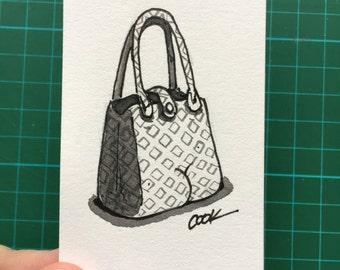 Purse with a BUTT mini illustration