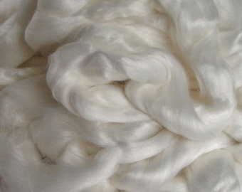 Roving BAMBOO TOP Fiber Undyed 2 0z for Hand Spinning Crafts handspinning natural plant Phat Fiber