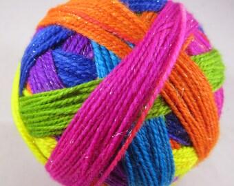 Pre-Order:  Neon Rainbow Self-Striping SW Sock Yarn