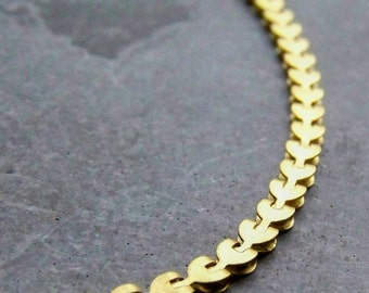 Brass Chain-Brass Heart-Book Chain-Brass Findings-Finished Chain-24 Inch-Vintage Brass Chain-Necklace Chain-Rare Chain-Unique Chain-3 Chains