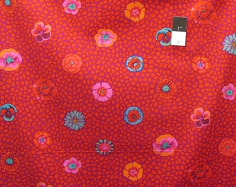 Kaffe Fassett PWGP059 Guinea Flower Red Cotton Fabric By The Yard