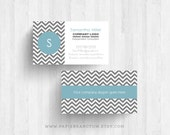 250 or 500 Custom Printed Chevron Business Cards