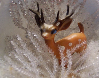 styrofoam and tiny deer ornament