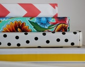 """1.5"""" FULL SIZE oilcloth binder cover // 1 1/2 inch 3 ring home organization planner recipe binder three ring // gold floral stripe dot"""