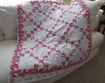 Hello Kitty Quilt Top