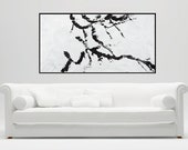 """Original art 60"""" XL Large Wall Art acrylic Impasto painting home decor office decor modern Abstract by QiQiGallery"""