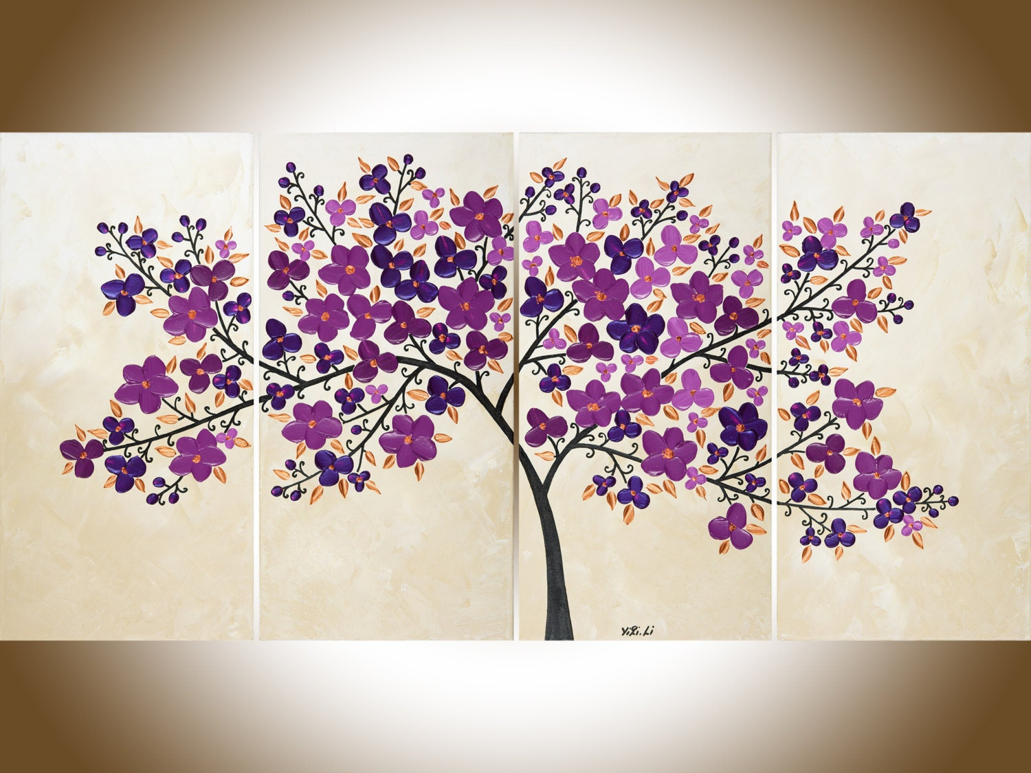 Purple flowers painting purple wall art large canvas art zoom amipublicfo Image collections
