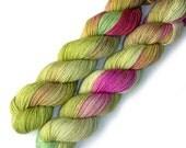 Sock Yarn Half Pint Merino Nylon Handdyed Yarn, 230 yards, Rosebud
