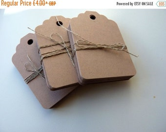SUMMER SALE large size linen buff beige brown colour plain card price hang gift tags