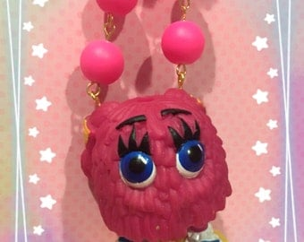 Vintage Fry Kids McDonalds Character Pink Beads Necklace