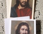 Our Lord Jesus, Savior, Stationary Cards and Envelopes on White and Ivory Card Stock taken from my Original Acrylic Painting , Catholic Art,