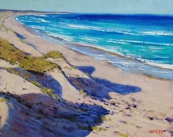 BEACH DUNES PAINTING Original Seascape by Graham Gercken