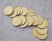 25mm Brass Round Closed Back Bezel Settings with 1mm Low Wall for Flat Back Cabs or Jewels (6 pcs)
