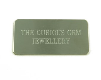 Personalised Engraved Stainless Steel Adhesive Plate 40mm x 20mm (CG8922)