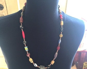Summer Sale African Trade Bead Necklace by Kate Drew-Wilkinson